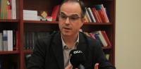El portavoz del grupo parlamentario (CIU), Jordi Turull Negre