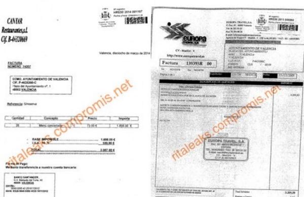 Así tiró por las ventanas la alcaldesa del PP Rita Barberá más de 80.000 euros en hoteles y 40.000 en restaurantes,,