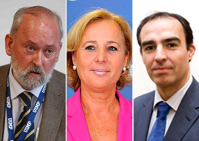De izquierda a derecha, José Eugenio Azpiroz, Lourdes Méndez Monasterio y Javier Puente / Foto El Mundo