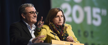 Durante el acto de que el colectivo ultra separatista radical antiespañol conocido como Asamblea Nacional Catalana (ANC) que li - copia