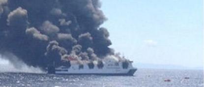 El buque Sorrento de Trasmediterránea se incendia a 18 millas de sa Dragonera,  cubría la ruta Palma-Valencia.