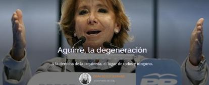 Inma Sequí parece que [Esperanza Aguirre -rectificado- tras la queja de As. Ampastta] en Aguirre La degene... - copia