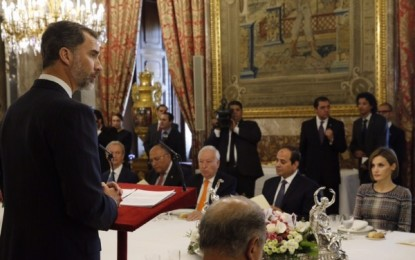 Palabras de Su Majestad el Rey en el almuerzo ofrecido en honor del presidente de Egipto, Abdel Fattah Al-Sisi