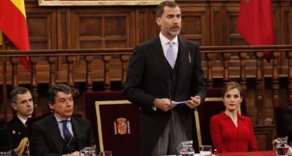 Palabras de Su Majestad el Rey en la entrega del Premio de Literatura en Lengua Castellana 'Miguel de Cervantes' 2014 - copia