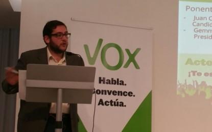 """VOX  propone la """"eliminación de la zona azul"""" durante su primer acto en Gerona, bajo el lema 'Valores con VOX'"""