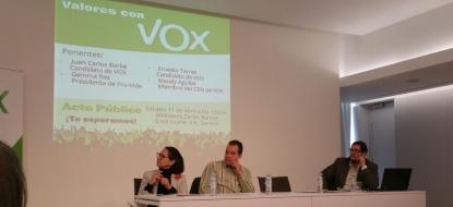 VOX  propone la eliminación de la zona azul durante su primer acto en Gerona, bajo el lema 'Valores con VOX'