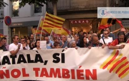 """Centenares de catalanes reclaman """"la pluralidad lingüística de Cataluña"""" en apoyo a Agustín en Mataró"""
