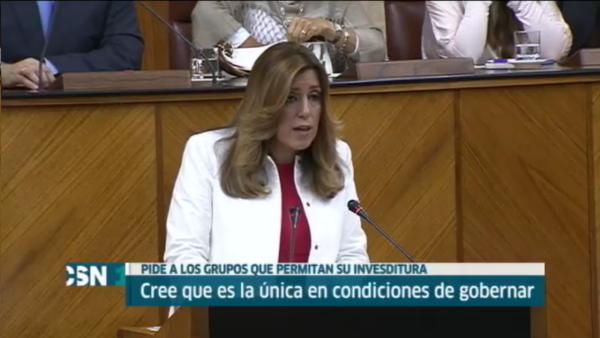 Díaz pide un voto de confianza de la Cámara para dar a Andalucía el gobierno que necesita