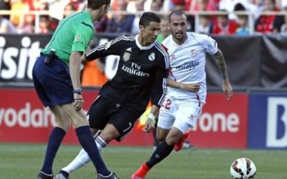 El Real Madrid sufre pero Cristiano Ronaldo sobresale en la batalla del Pizjuán, 2-3