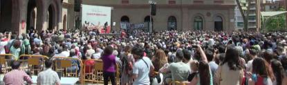 Iglesias tacha a Artur Mas de gentuza ladrón y Colau pide echar mafia de Xavier Trias de Barcelona