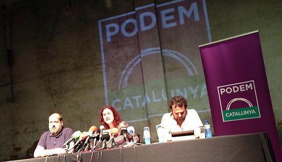 Podem (Cataluña) incluye ICV en su gran coalición par el 27-S; Artur Mas es un ladrón que no roben más