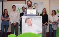 VOX presenta sus candidaturas de toda España haciendo un minuto de silencio  en memoria de los fallecidos de Sevilla