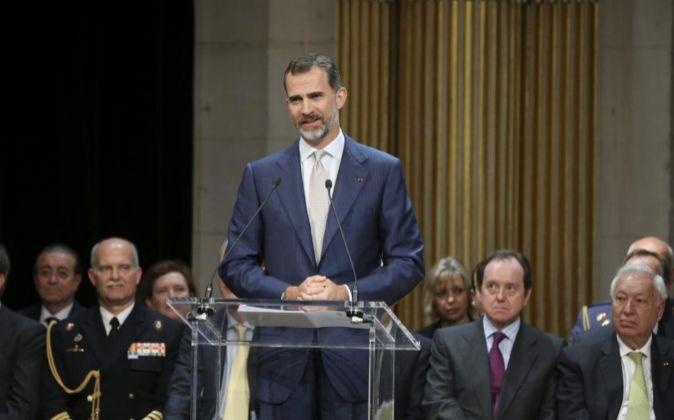 Felipe VI defiende en la Asamblea Nacional francesa una Europa más unida y próspera