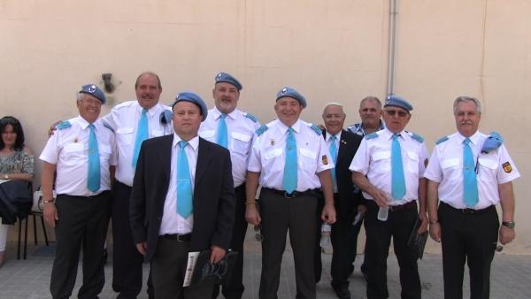 Miembros del Cuerpo Somatén presentes al acto