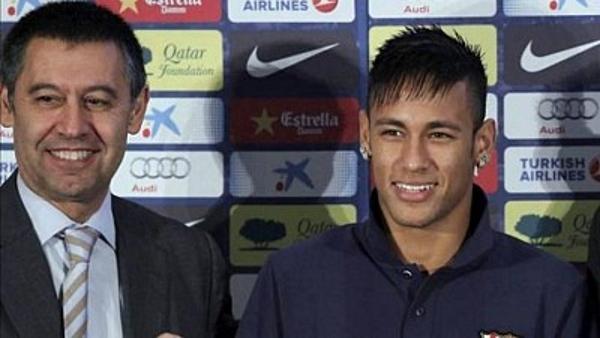 Admitida una querella contra Neymar y Bartomeu por corrupción