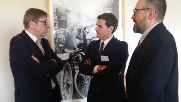 Albert Rivera reclama en Bruselas un cambio sensato en «Europa y España» desde el centro y no por los extremos