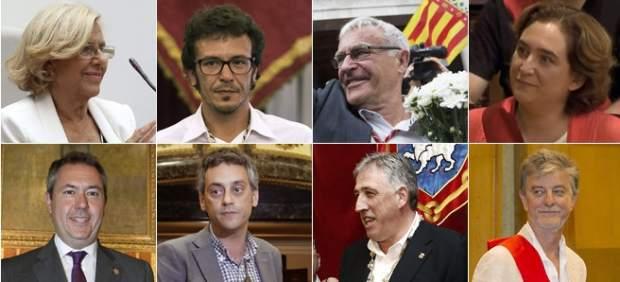 Cambio histórico en las alcaldías de Madrid, Barcelona y Valencia con alcaldes de izquierdas