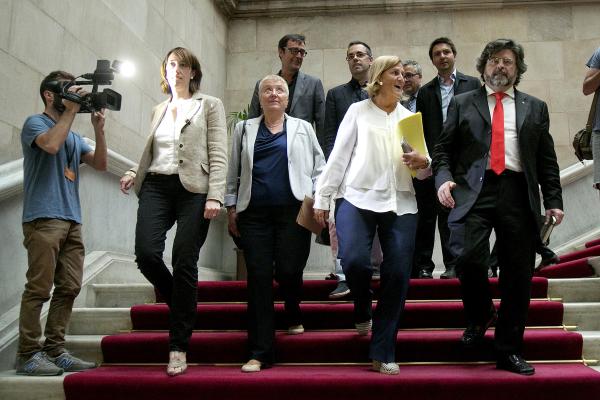 Fotografía de separatistas excluyentes de UDC (Dcha a Izda.) Antoni Castellà, Núria De Gispert, Marta Vidal y Assumpció Lailla, Foto archivo diario Ara.