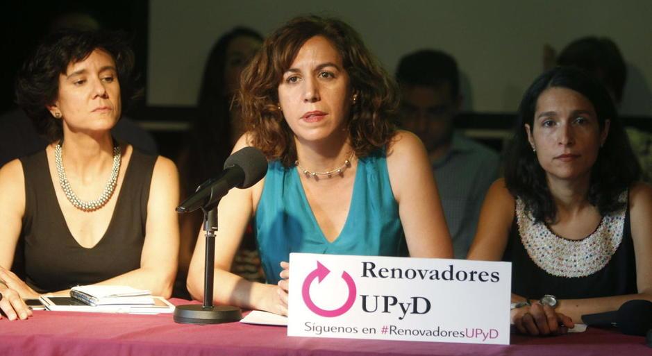 Irene Lozado durante la presentación de su candidatura