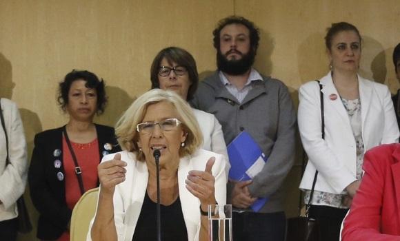 Manuela Carmena y Guillermo zapata