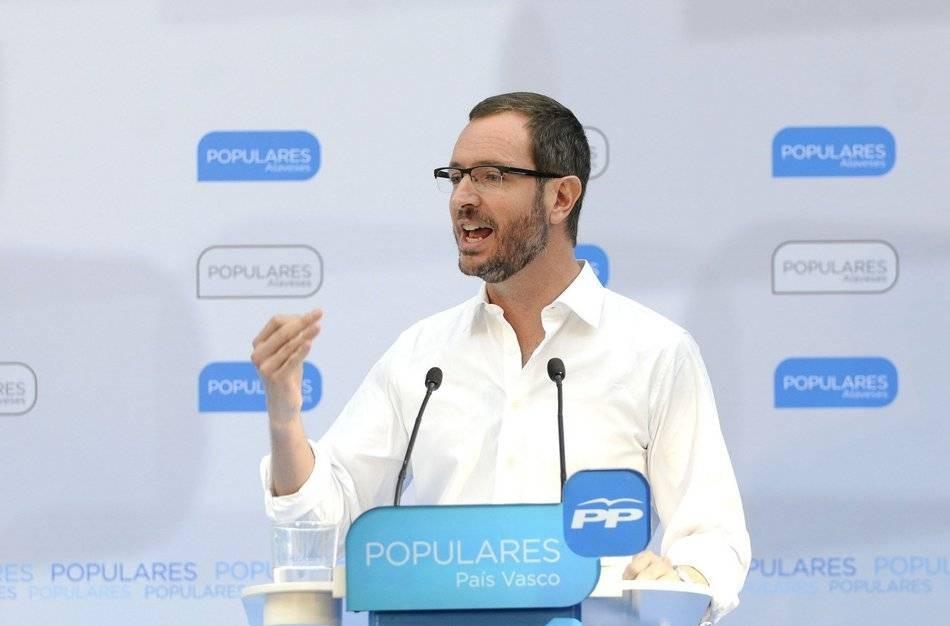 Maroto (PP Vitoria): «Esta es la cruda realidad; el PNV ha decido aceptar como socio a Bildu»