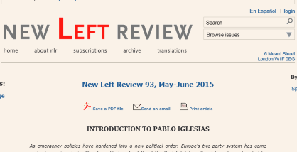 entrevista de Iglesias en New Left Review...