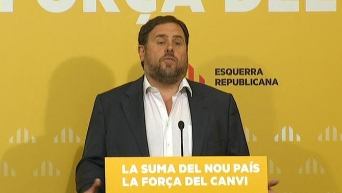 Junqueras pide movilizar al máximo la sociedad para que el separatismo tenga mayoría el 27-S