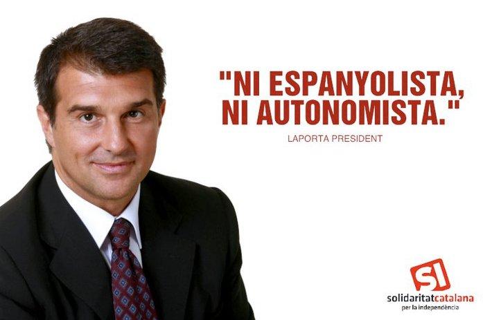 laporta extremista catalán