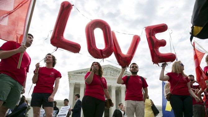 Legalizado la unión homosexual en los 50 Estados de Los Estados Unidos de América