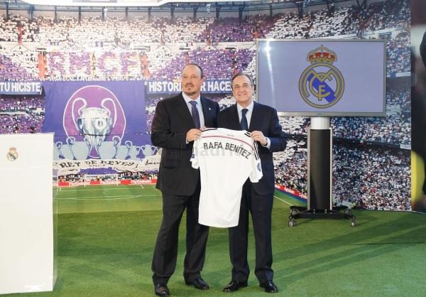 Rafa Benítez, presentado como nuevo técnico del Real Madrid