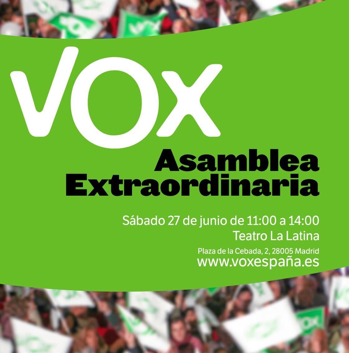 El proceso de primarias internas de VOX culmina mañana con la elección de su candidato a la Moncloa