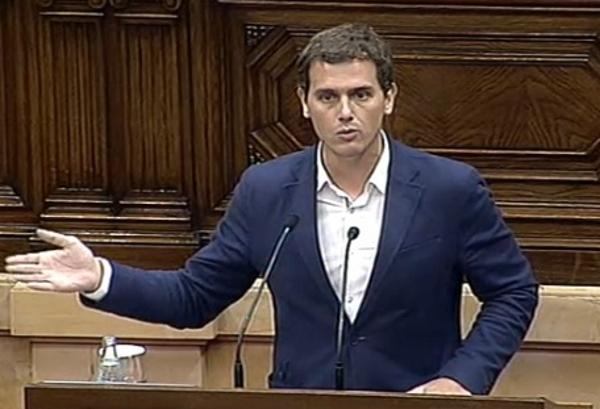 Albert Rivera Pleno del Parlamento de Ctaluña, 7 de julio 2015