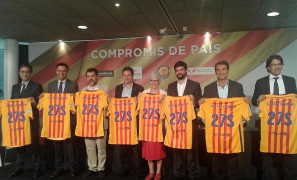 Candidatos de FC Barcelona se comprometen a «apoyar el libre ejercicio de autodeterminación» de Cataluña