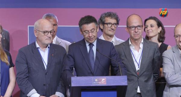 Discurso de Bartomeu Seguiremos creciendo si somos un club que apoya a Cataluña en su momento más ilusionante