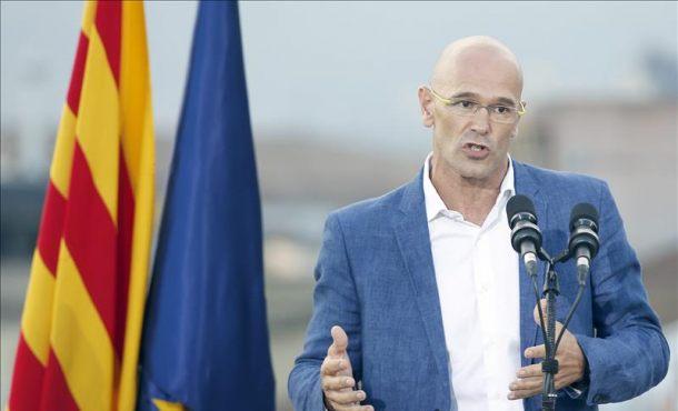 El cabeza de lista, Raül Romeva, durante la presentación de la lista unitaria a favor de la independencia. EFEArchivo