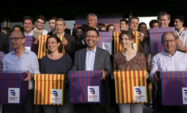 El candidato a la presidencia del FC Barcelona, Josep Maria Bartomeu