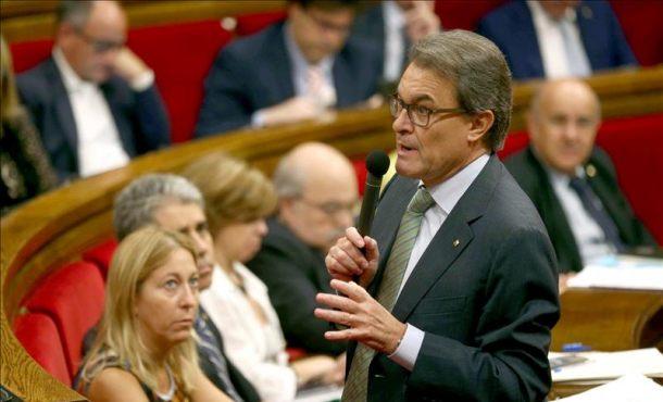 El presidente de la Generalitat, Artur Mas, ayer. EFE