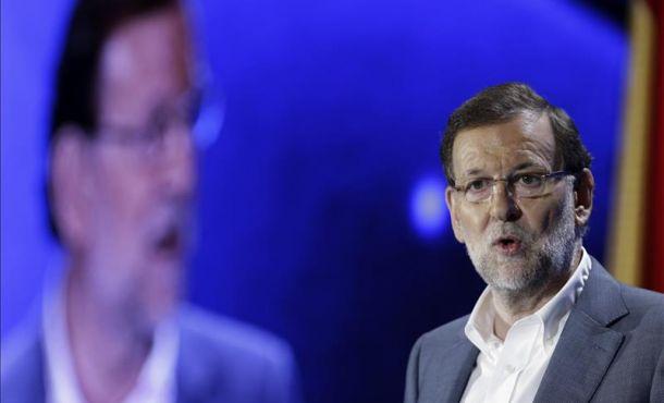 El presidente del Gobierno y del PP, Mariano Rajoy, durante su intervención en la clausura de la Conferencia Política del PP,