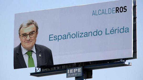 Españolizando Lérida, Alcalde Ros, Separatistas de ANC y Ómnium convocan una concentración contra Ciudadanos-PSOE en Lérida