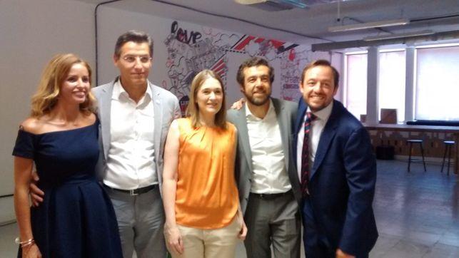 Fotografías Francisco de la Torre, Marta Rivera, Miguel Gutiérrez y Patricia Reyes que acompañan el líder de Ciudadanos, como cabeza de lista, de cara