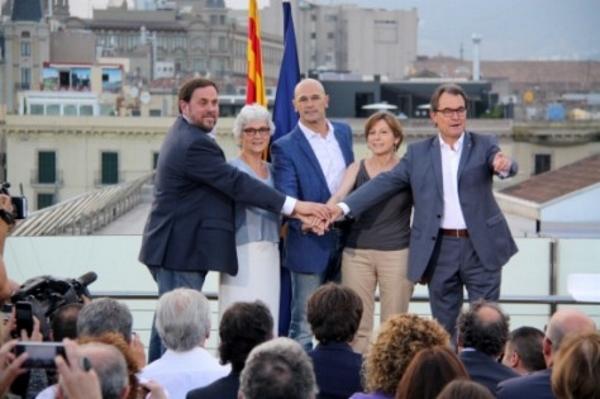 La candidatura separatista 'juntos por el 'sí' proclamará la independencia de Cataluña después del 2