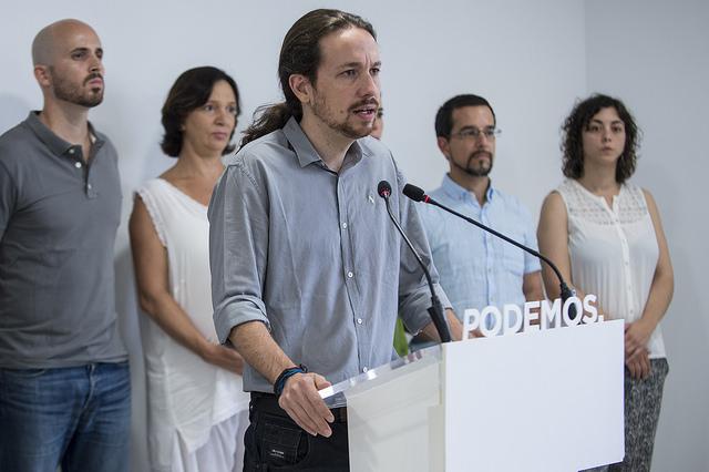 Pablo Iglesias y miembro del comité ejecutivo de Podemos