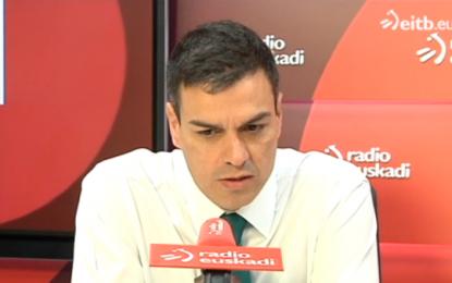 """Pedro Sánchez """"bajo ningún concepto nosotros vamos a aceptar"""" la separación """"de Cataluña"""""""