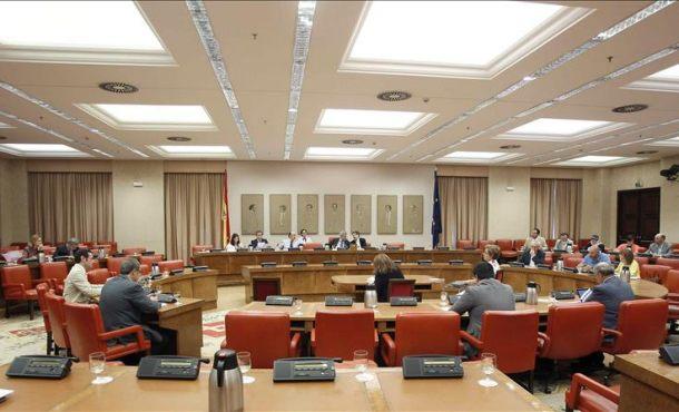 Vista general de la última reunión de la Comisión de la Diputación Permanente antes del mes de agosto