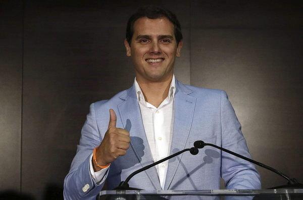 el presidente y candidato de ciudadanos C's , Albert Rivera