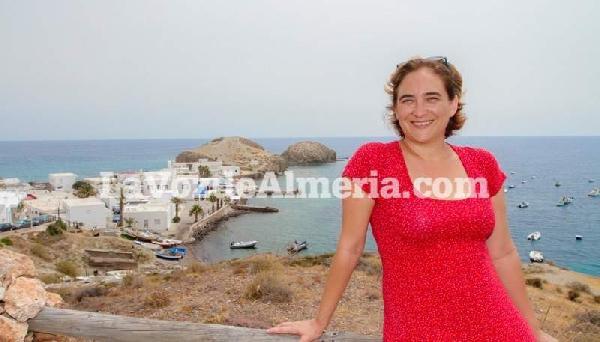 Ada Colau, durante su entrevista en Almería