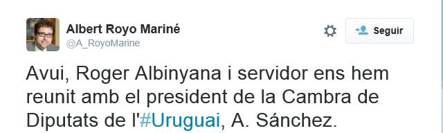 CDC de Artur Mas denuncia al PP por obstaculizar el separatismo en Uruguay
