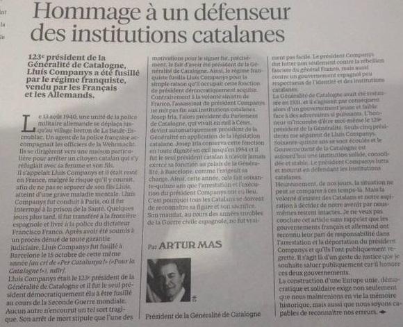 Mas defiende a un criminal, asesino de los catalanes que amparaba las checas y sus violaciones, Lluís Companys