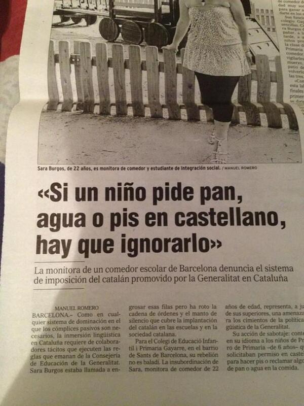 'Si un niño pide pis en castellano hay que ignorarlo'