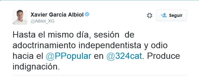 Albiol denunciando el adoctrinamiento separatista
